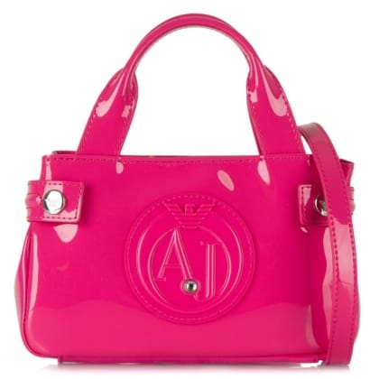 Armani Jeans Mini Slade Pink Patent Cross-Body Bag
