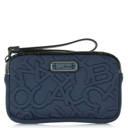 Marc Jacobs Scrambled Logo Neoprene Universal Navy iPhone Wrist-Let Case