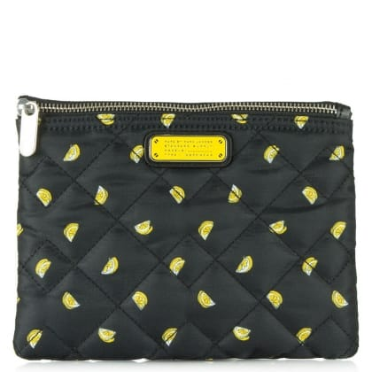Marc Jacobs Crosby Fruit Double Zip Yellow Cosmetic Bag