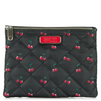 Marc Jacobs Crosby Fruit Double Zip Red Cosmetic Bag