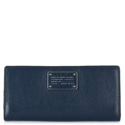 Marc By Marc Jacobs Too Hot To Handle Navy Leather Tomoko Wallet