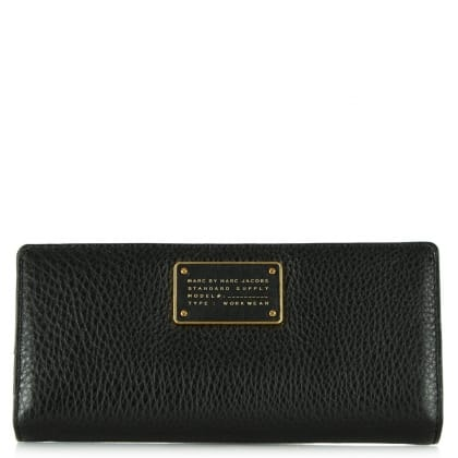 Marc By Marc Jacobs Too Hot To Handle Black Leather Tomoko Wallet