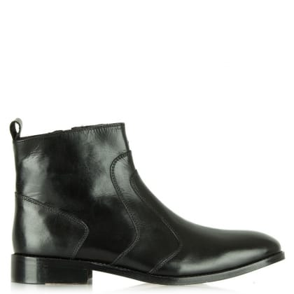 Daniel Black Leather Chelsea Boot