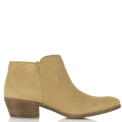 Sam Edelman Petty Tan Leather Low Heel Ankle Boot