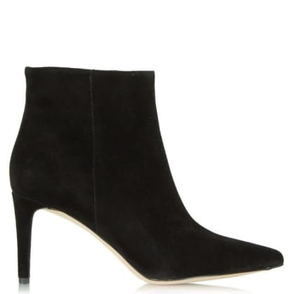Sam Edelman Karen Black Suede Pointed Toe Ankle Boot
