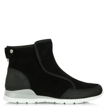 UGG® Australia Authorised Retailer Laurelle Black Leather High Top Trainer