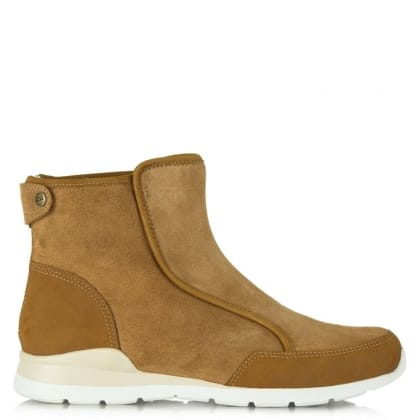 UGG® Australia Authorised Retailer Laurelle Tan Leather High Top Trainer