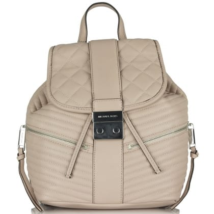 Michael Kors Elisa Quilted Pink Leather Backpack