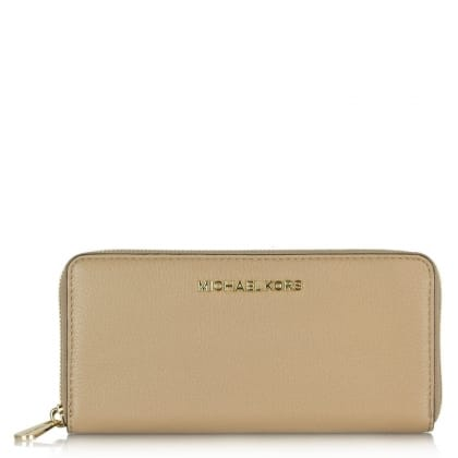 Michael Kors Bedford Continental Beige Leather Women's Wallet