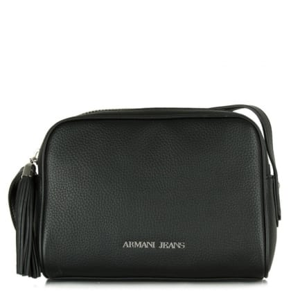 Armani Jeans Naomi Black Zip Around Cross-Body Bag