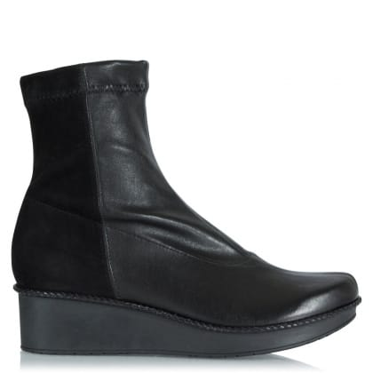 Robert Clergerie Anoa Black Leather Platform Ankle Boot