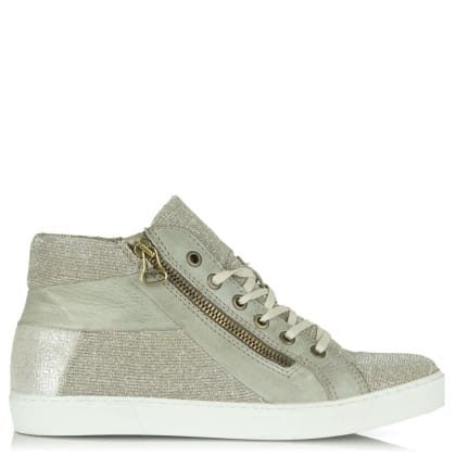 Daniel South Carolina Silver Metallic Glitter High Top