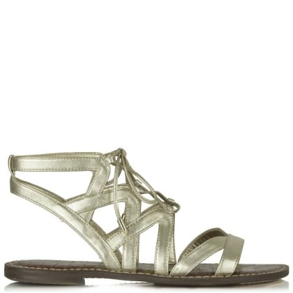 Sam Edelman Gemma Gold Leather Gladiator Sandal