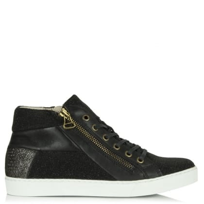 Daniel South Carolina Black Metallic Glitter High Top