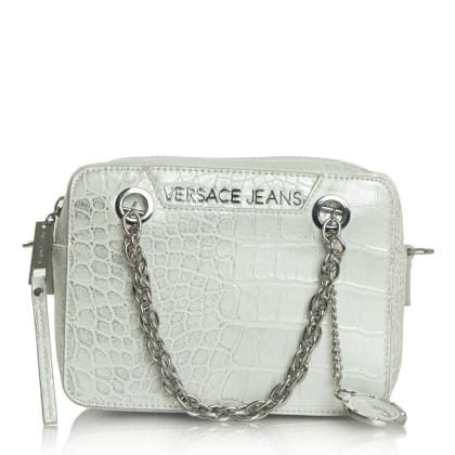 Versace Jeans Kate Taupe Moc Croc Box Cross-Body Bag