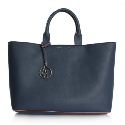 Armani Jeans Emmy Blue Large Contrast Trim Jetset Shopper