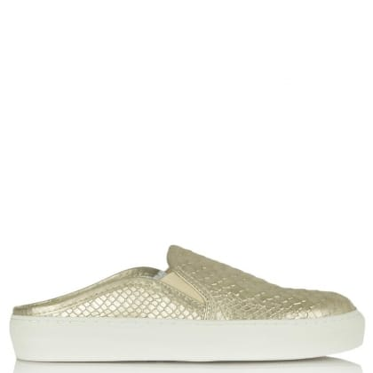 Bronx Ronxy 55 Gold Metallic Backless Trainer