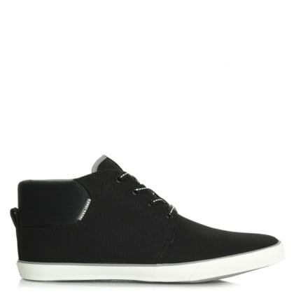 Jack & Jones Vertigo Black Lace Up Canvas High Top