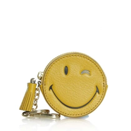 Anya Hindmarch Wink Yellow Leather Coin Purse