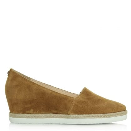 Hogl Low Wedge Tan Suede Low Espadrille