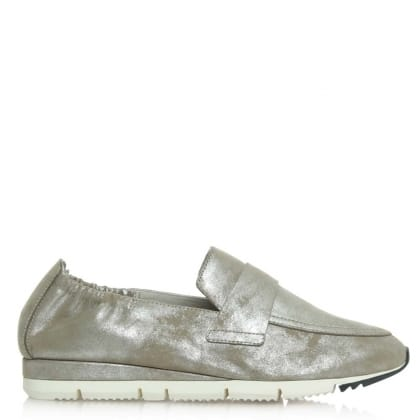 Kennel & Schmenger Song Taupe Leather Metallic Loafer