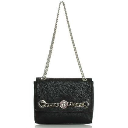 Versace Jeans Halle Black Chain Detail Cross-Body Bag