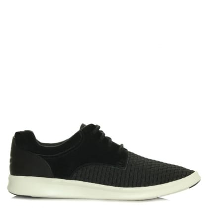 UGG Australia Hepner Woven Black Leather Trainer