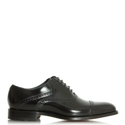 Barker Wilton Black Leather Lace Up Oxford