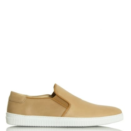 Daniel Trowbridge Tan Nubuck Sporty Slip On Pump