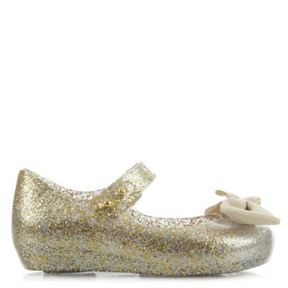 Melissa Mini Ultragirl Gold Ribbon Shoe