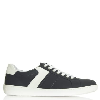 Daniel Melksham Navy Leather Lace Up Trainer