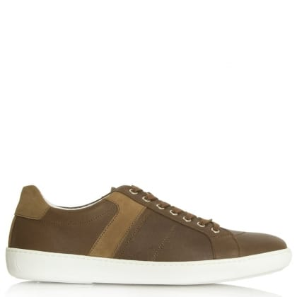 Daniel Melksham Tan Leather Lace Up Trainer