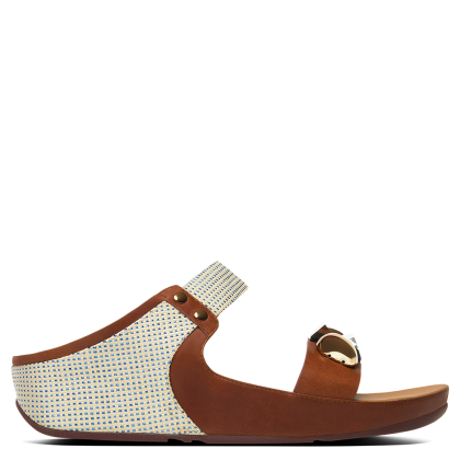 FitFlop Jeweley Slide Tan Leather Sandal