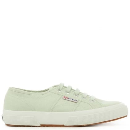 Superga Cotu 2750 Green Canvas Lace Up Trainer