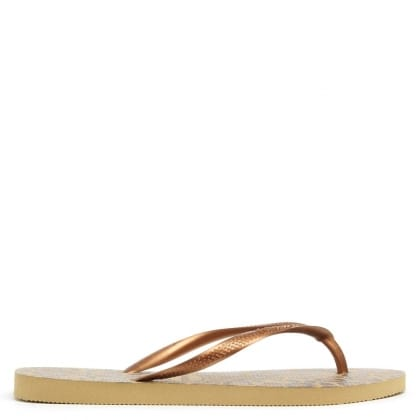 Havaianas Gold Animal Printed Women's Flip Flop