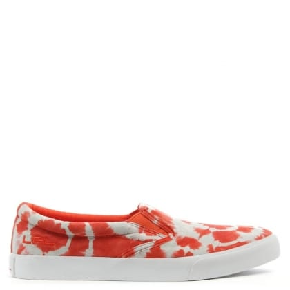 Lauren by Ralph Lauren Cedar Orange Suede Tie-Dye Slip On Trainer