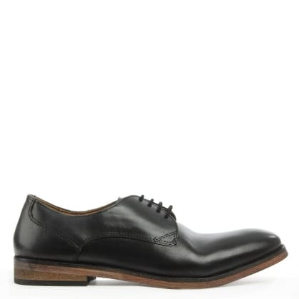 Daniel Derby Black Leather Smart Lace Up Shoe