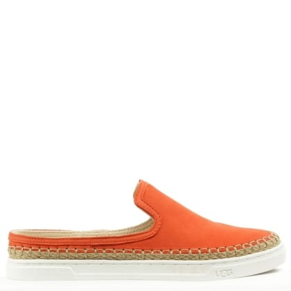 UGG Caleel Hazard Orange Backless Trainer