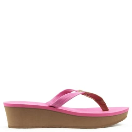 UGG Australia Ruby Furious Fuchsia Wedge Toe Post Flip Flop