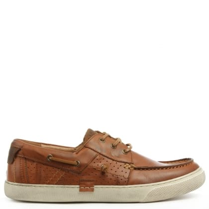 Daniel Aberdare Tan Leather Deck Shoe