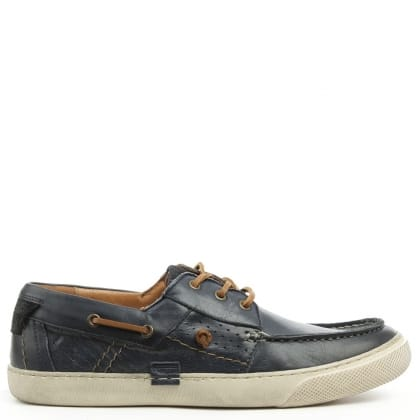 Daniel Aberdare Navy Leather Deck Shoe