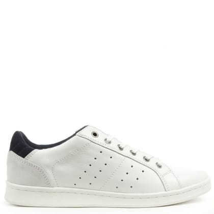 Daniel Tallywain White Leather Contrast Lace Up Trainer