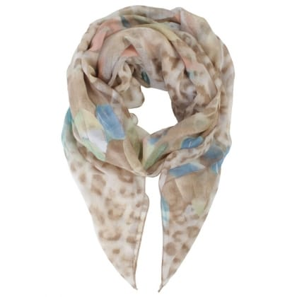 Daniel Leopard & Feather Multicoloured Scarf
