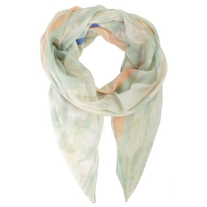 Daniel Abstract Paint Green Scarf