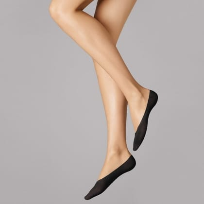 Wolford Black Cotton Footsie Socks