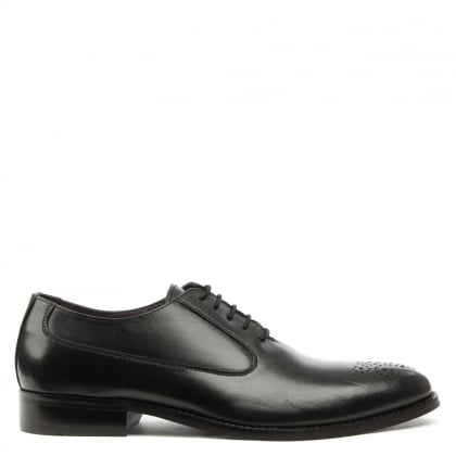 Daniel Gucinari Jay Jay 292 Black Leather Punch Lace Up Shoe