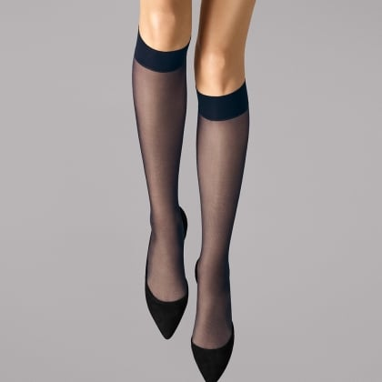 Wolford Satin Touch 20 Black Knee Highs