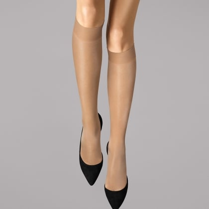 Wolford Satin Touch 20 Gobi Knee Highs