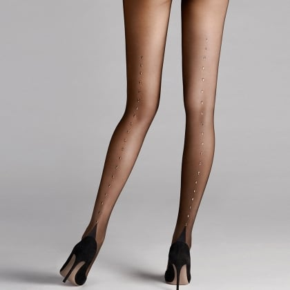 Wolford Paris Black Women's Embellished Tights
