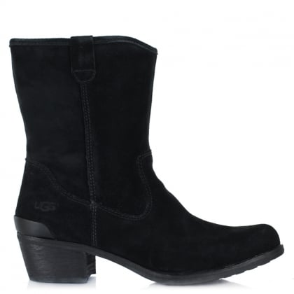 UGG Briar Black Suede Brushed Western Boot